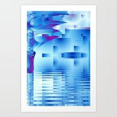 Barnsley Blue Art Print