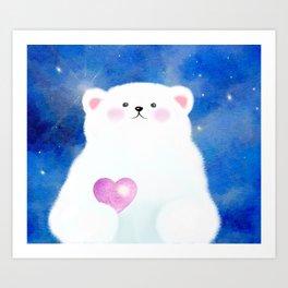 Little Love Bear Art Print