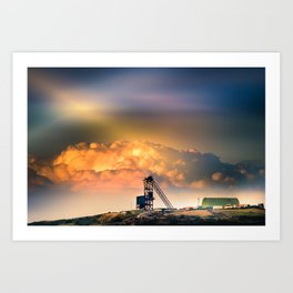 Old Copper Mine on Anglesey Art Print