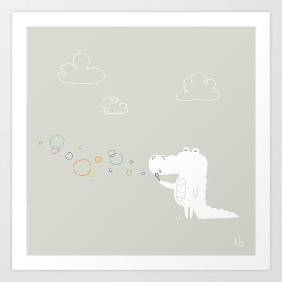 The Happy Bubbles Art Print
