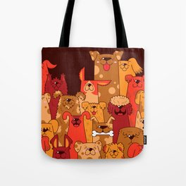 Pile of Woofs Tote Bag
