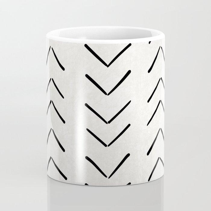 Mud Cloth Big Arrows in Cream Coffee Mug