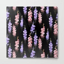 Falling Floral Metal Print