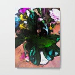 Vase of Green Leaves 1 Metal Print