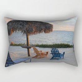 Thatch Umbrella at Sunset Rectangular Pillow