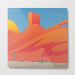 Desert Valley Landscape Scene Metal Print