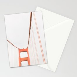 On the Golden Gate Bridge Stationery Cards