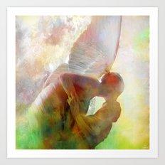 The kiss of the angel Art Print