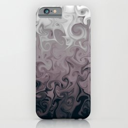 Grey marble effect abstract digital illustration  iPhone Case