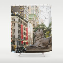 New York Public Library Shower Curtain