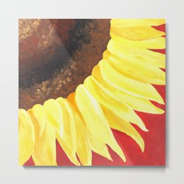 Sunflower on Red #2 Metal Print