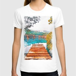 Blue Cove Athens USA Jetty - Jetties Around The World T-shirt