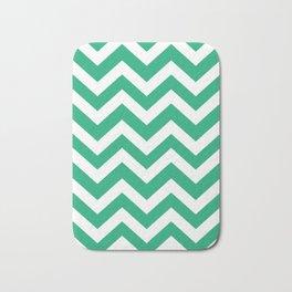 Green (Crayola) - green color - Zigzag Chevron Pattern Bath Mat