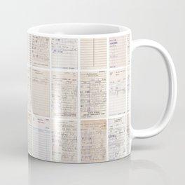 Old Friends Library Circulation Card Print Coffee Mug