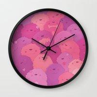 potato Wall Clocks featuring Potato Chips by Nandi Appleby