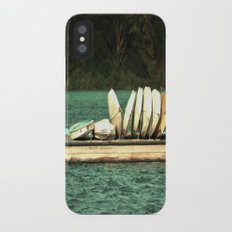 Boats on the Dock Slim Case iPhone X
