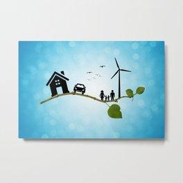 Eco life concept Metal Print