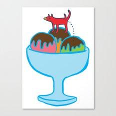 Ice-cream dog Canvas Print
