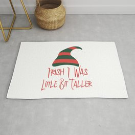 Irish I Was Little Bit Taller St. Patrick's Day Rug