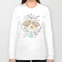 cooking Long Sleeve T-shirts featuring Cooking Birds by April Yim