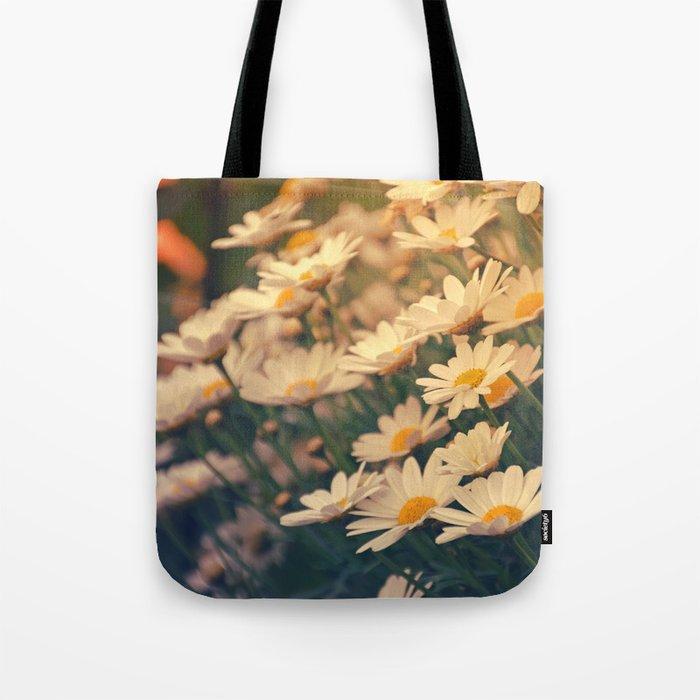 White daisy sunrise effect Tote Bag