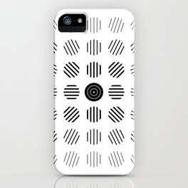 Black and White centered lines iPhone Case