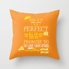 Love is the best thing we do Throw Pillow