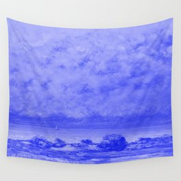 The Black Rocks at Trouville Japanese Porcelain Concept Wall Tapestry