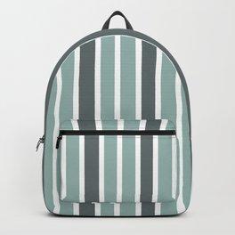Gray & White Stripes Backpack