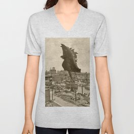 Godzilla King of Monsters Ohio 1903 Unisex V-Neck