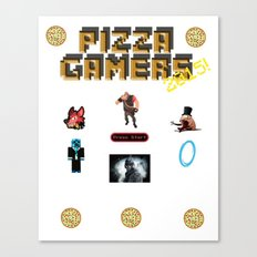 The Pizza Gamers Canvas Print