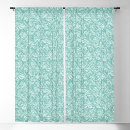 Seafoam Antler Print Blackout Curtain