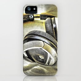 Headphones III iPhone Case