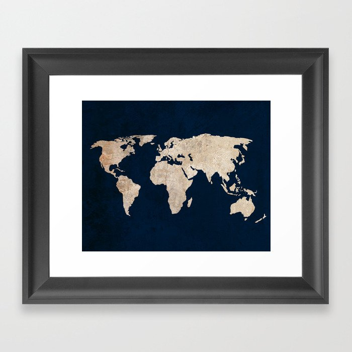 Inverted rustic world map framed art print by bysamantha society6 inverted rustic world map framed art print gumiabroncs Choice Image