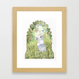 Bunny's Birthday Framed Art Print