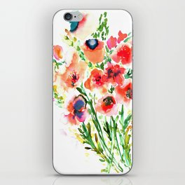Bouquet Red iPhone Skin