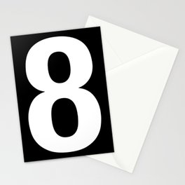 Lucky number: 8 Stationery Cards
