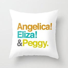 And Peggy Throw Pillow