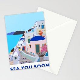 Sea you soon [Santorini, Greece] #2 Stationery Cards