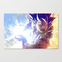 goku Canvas Prints featuring Goku by MATT DEMINO