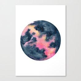 Pink Yellow Galaxy (Lesley's Galaxy) Canvas Print