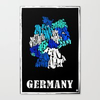 germany Canvas Prints featuring Germany by HNLdesign