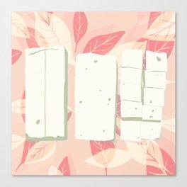 Tofu trio Canvas Print