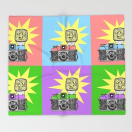 Let's warholize...and say cheese! Throw Blanket