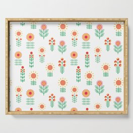 Colorful Floral Garden Serving Tray