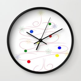Tree of lights Wall Clock