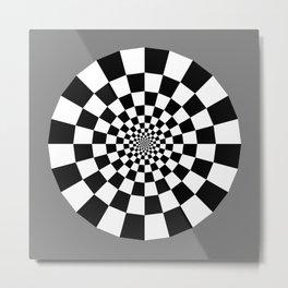 Checker Tunnel Metal Print