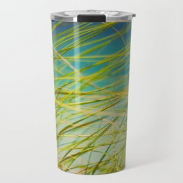 Seagrass By The Ocean Blue Waves Colorful Green To Blue Gradient Travel Mug