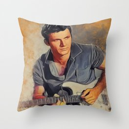 Dick Dale, Music Legend Throw Pillow