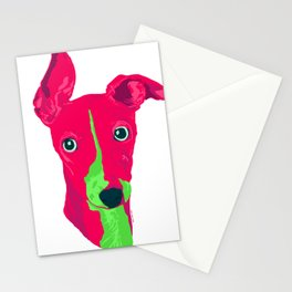 italian greyhound - wht Stationery Cards